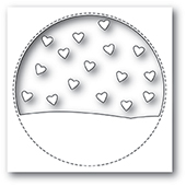 99930 Stitched Circle Heartscape craft die