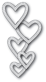 99938 Classic Double Stitched Heart Rings craft die