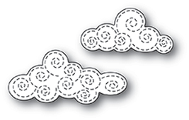 99969 Swirl Stitch Clouds craft die