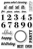CL5153 Party Time clear stamp set