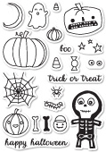 CL5160 Halloween Sideshow Clear Stamp Set