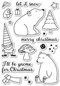 CL5161 Gnome For Christmas Clear Stamp Set