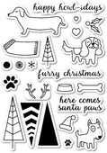 CL5162 Santa Paws Clear Stamp Set