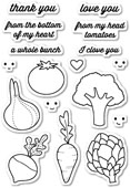 CL5173 Veggie Good Clear Stamp Set