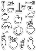 CL5175 Baby Veggies Clear Stamp Set