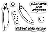CL5176 Easy Peasy Clear Stamp Set