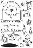 CL5180 Snowglobe Wishes Clear Stamp Set
