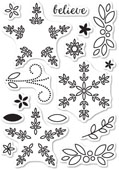 CL5182 Poinsettia Surprise Clear Stamp Set