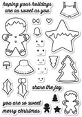 CL5183 Frosted Christmas Clear Stamp Set