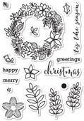 CL5187 Christmas Botanicals Clear Stamp Set