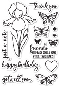 CL5202 Sentimental Iris clear stamp set