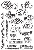CL5203 Fish Tales clear stamp set