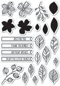 CL5204 Garden Sketches clear stamp set