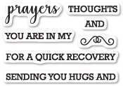 CL5208 Prayers Sentiments clear stamp set