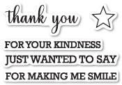 CL5210 Thank You Sentiments clear stamp set