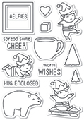 CL5216 Playtime Elves clear stamp set