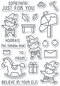 CL5217 Christmas Elves clear stamp set