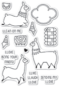 CL5219 Llama Love clear stamp set