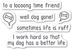 CL5223 Dog Gone clear stamp set