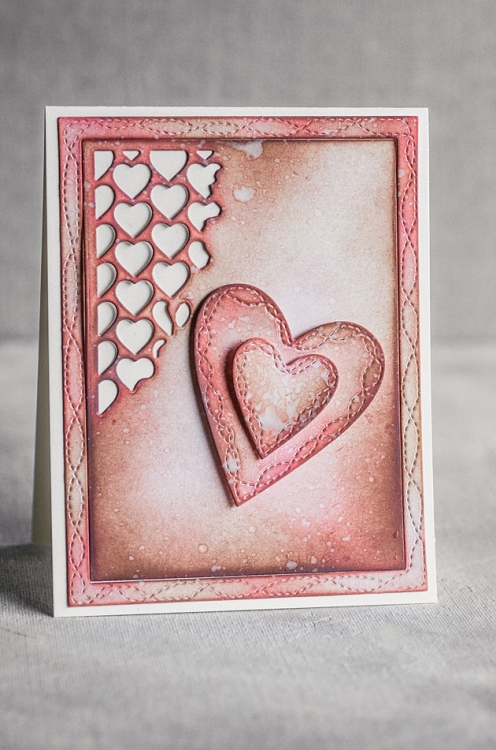 Wrapped Stitched Heart Frame