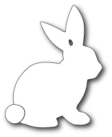 99406 Sketch Bunny Background craft die