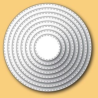 30036 Stitched Circle Layers craft dies