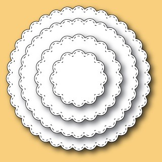 30047 Stitched Scalloped Circles craft dies