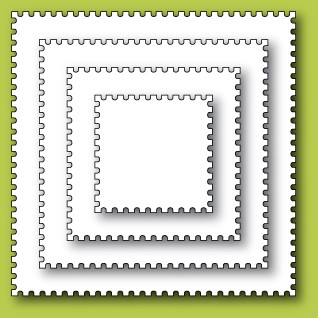 30049 Postage Square Layers craft dies