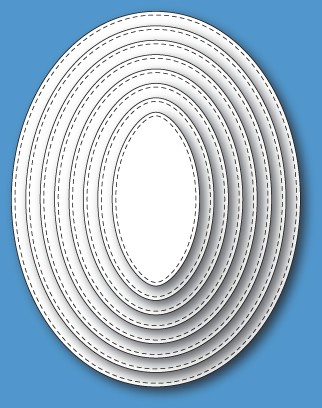 30069 Stitched Oval Layers craft die