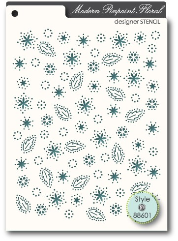 88601 Pinpoint Floral stencil