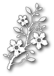98980 Blushing Flower Branch craft dies