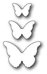 99095 Cascadia Butterfly Trio craft dies