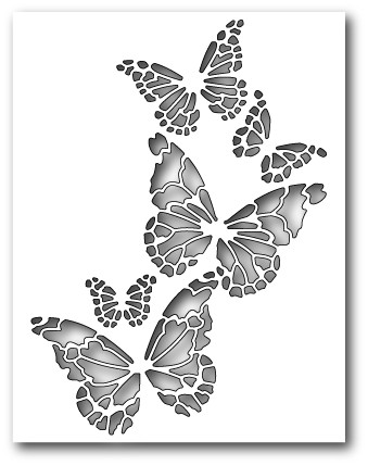 99145 Reverse Butterfly Collage craft dies