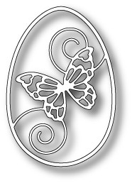 99350 Butterfly Swirl Egg craft die