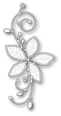 99483 Poinsettia Flourish craft die