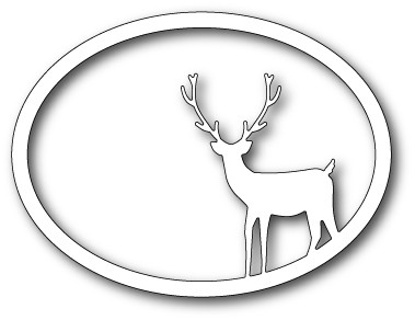 99485 Standing Deer Oval Frame Craft Die