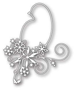 99564 Snowflake Bird craft die