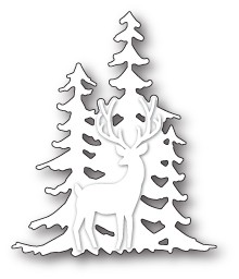 99581 Deer in the Trees Silhouette craft die