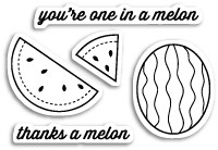 CL5178 Thanks a Melon Clear Stamp Set