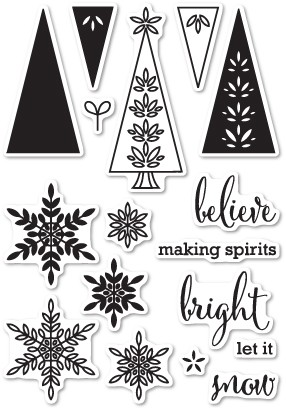 CL5186 Making Spirits Bright Clear Stamp Set