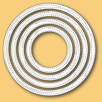 30120 Wrapped Stitched Circle Frames craft die