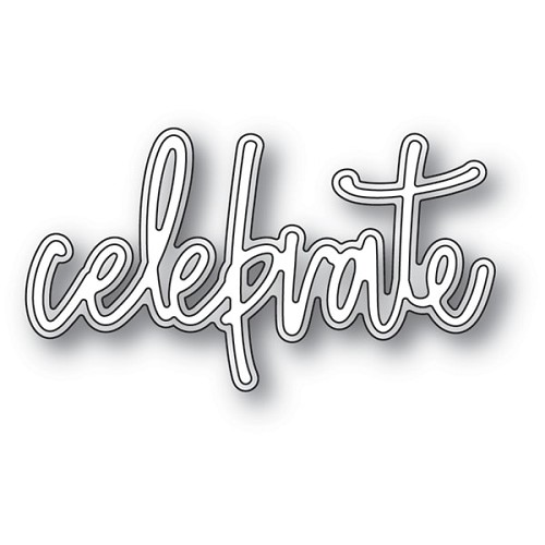 94074 Celebrate Jotted Script craft die