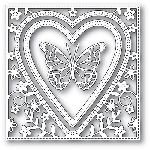94110 Butterfly Heart Frame craft die
