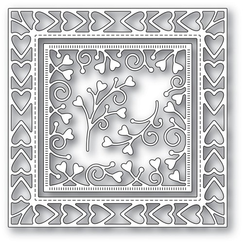 94118 Heart Border Frame craft die