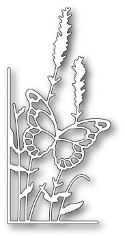 99664 Lavender Butterfly Left Corner craft die