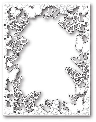 99689 Fantasy Butterfly Frame craft die