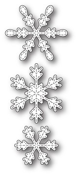 99836 Stitched Piccolo Snowflakes craft die