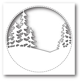 99843 Stitched Circle Trees craft die