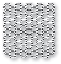 99921 Honeycomb Square craft die