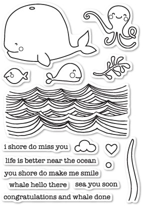CL5200 Whale Hello There clear stamp set